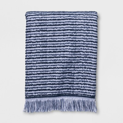 Textured Stripe Bath Towels Blue - Project 62™