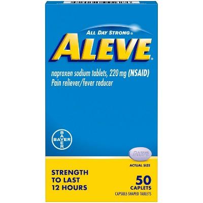 Aleve Acetaminophen Naproxen Caplets (NSAID) - 50ct