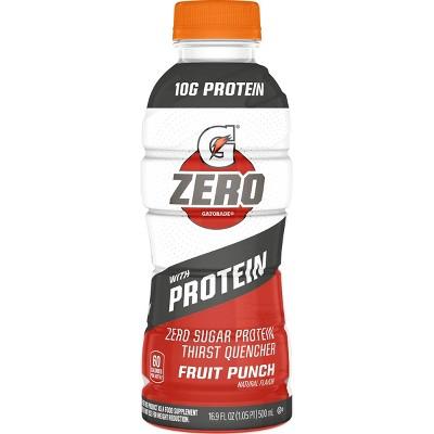 G Zero Protein Fruit Punch Sports Drink - 16.9 fl oz Bottle