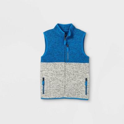 Boys' Knit Fleece Zip-Up Vest - Cat & Jack™