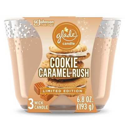 Glade Cookie Caramel Rush Candle - 6.8oz