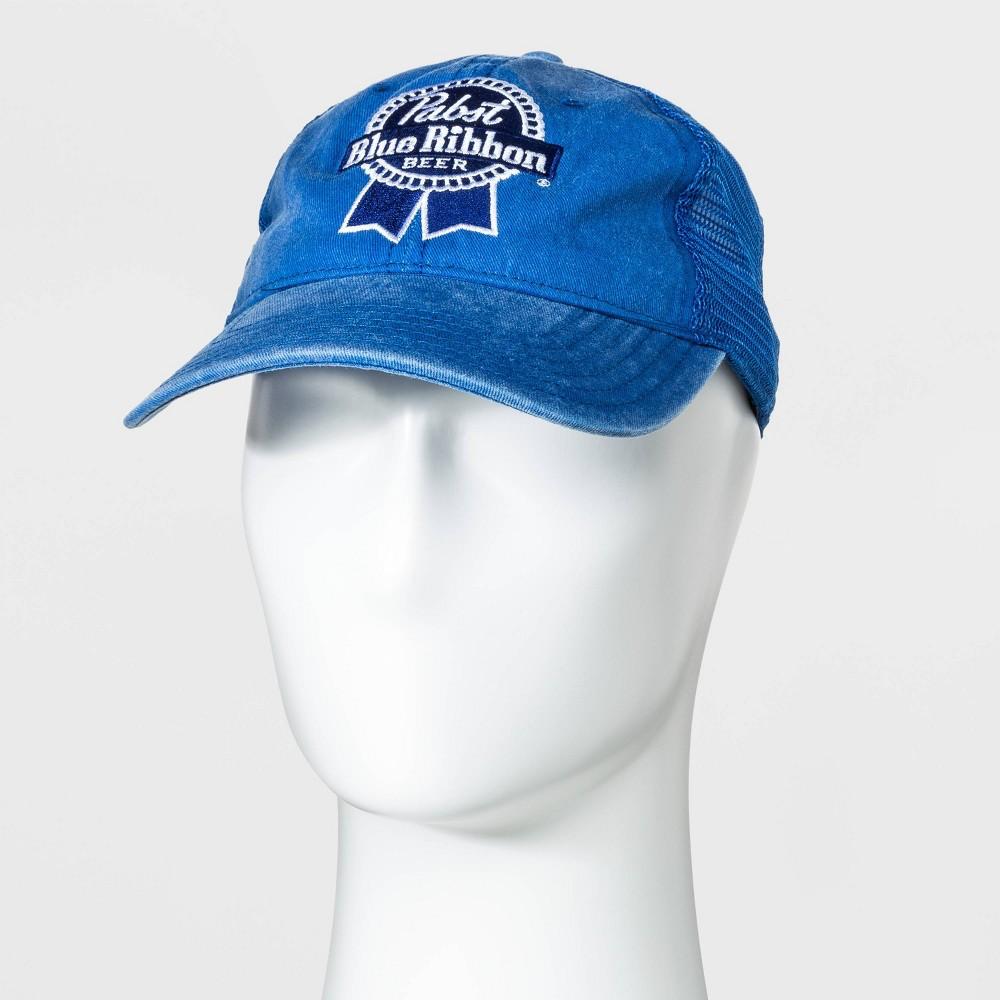 Image of Men's Pabst Blue Ribbon Trucker Baseball Cap - Royal One Size, Men's