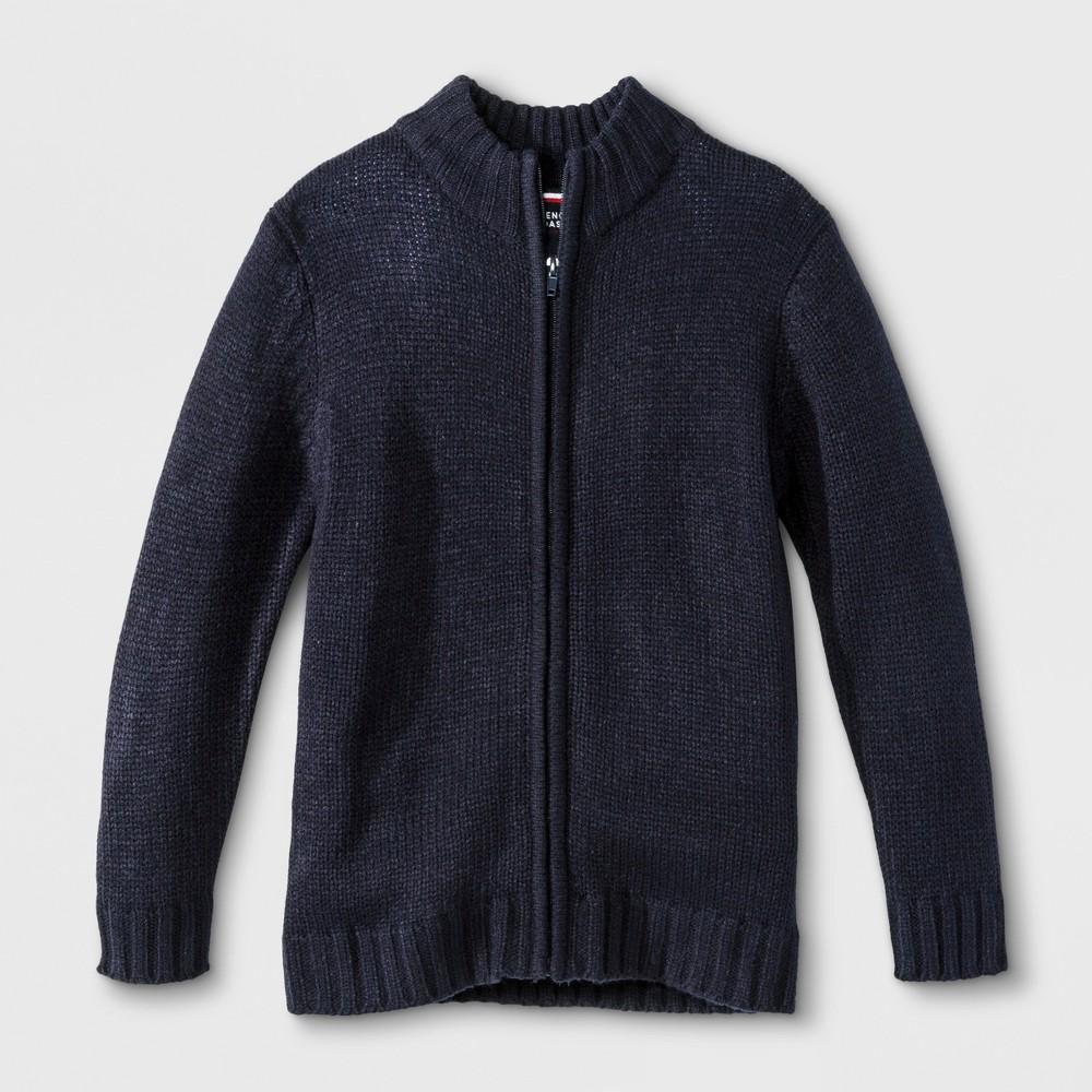 French Toast Boys' Zip-Up Uniform Cardigan - Navy (Blue) 18