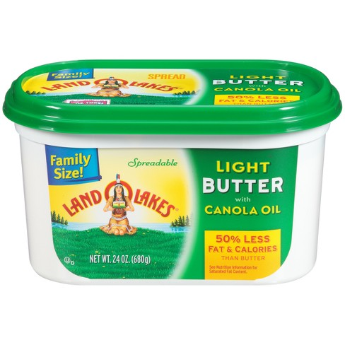 Land O Lakes Spreadable Butter Light with Canola Oil - 24oz - image 1 of 1