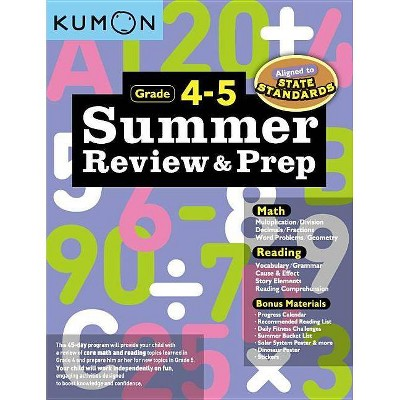 Summer Review and Prep 4-5 - (Paperback)