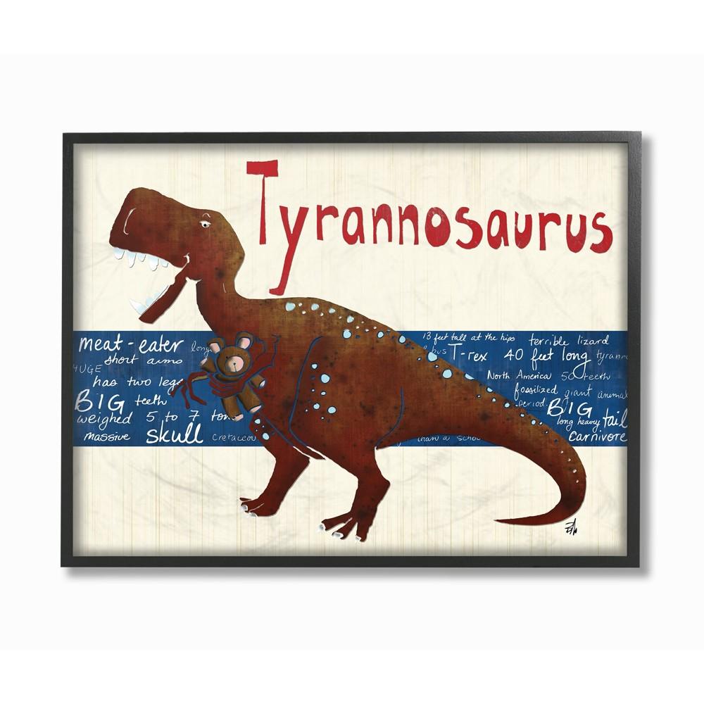 Best Price Tyrannosaurus Dinosaur Oversized Framed Giclee Texturized Art 16x20x15 Stupell Industries Brown