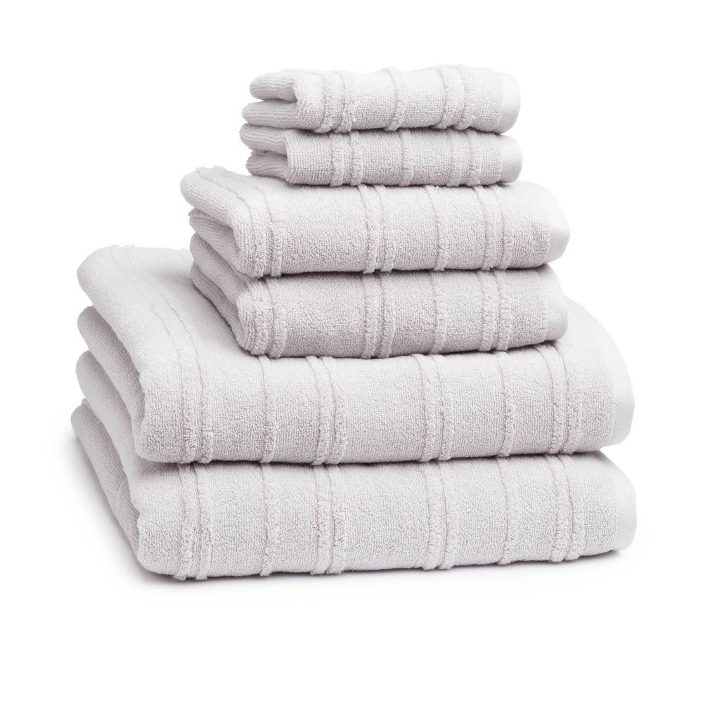 Image of 6pc Astor Towel Set Platinum - Cassadecor, White