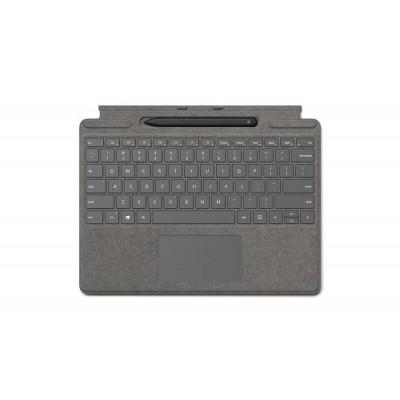 Microsoft Surface Pro X Signature Keyboard Platinum with Slim Pen - Full mechanical keyset - Surface Pro X Slim Pen included