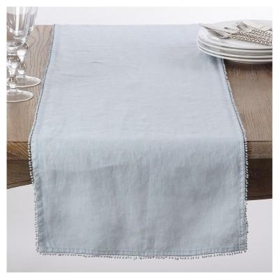 Gray PomPom Design Table Runner (16 x72 )- Saro Lifestyle®