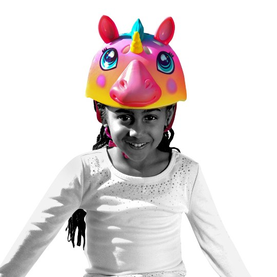 Raskullz Rainbow Unicorn Child Bike Helmet image number null