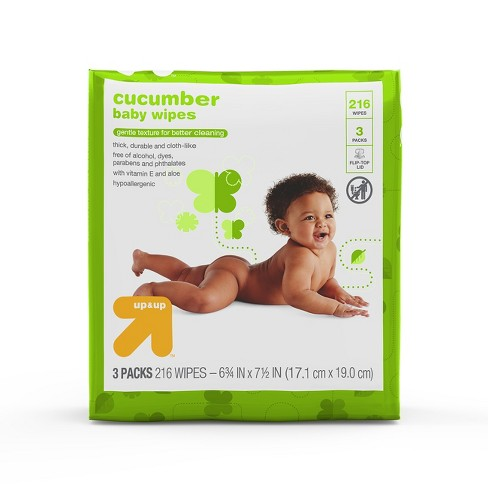 Cucumber Baby Wipes, 216ct - Up&Up™ - image 1 of 4