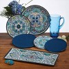 "Certified International Talavera by Nancy Green Melamine Dinner Plates 11"" Blue - Set of 6 - image 3 of 3"