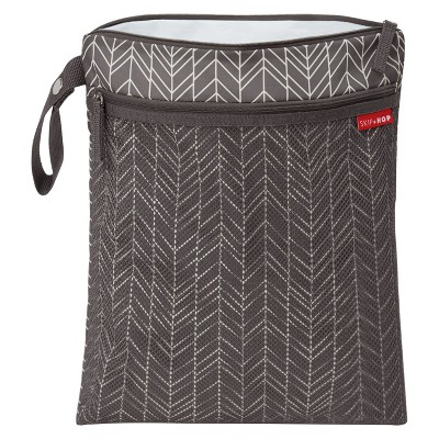 Skip Hop Grab and Go Wet/Dry Bag Feathers - Gray