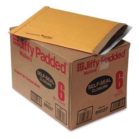 sealed air jiffy padded self seal mailer 6 12 1 2 x 19 natural
