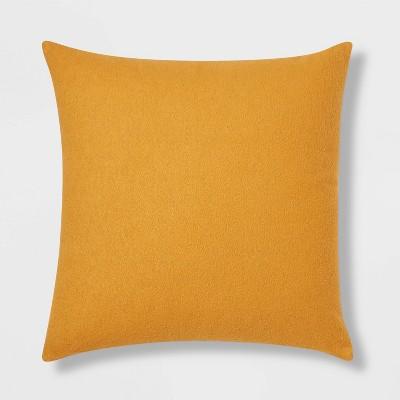 Euro Boucle Color Blocked Decorative Throw Pillow Mustard - Threshold™