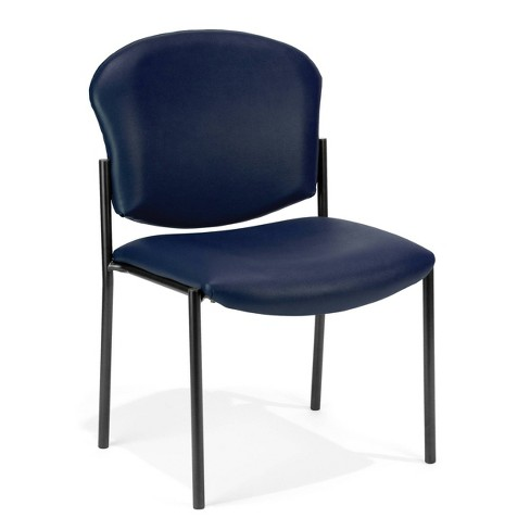 Armless Stack Vinyl Chair Navy - OFM - image 1 of 1