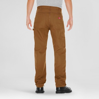 Dickies Men's Relaxed Straight Fit Canvas Carpenter Jeans -Brown Duck 36X32
