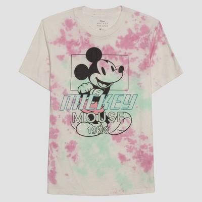 Men's Disney Mickey Mouse Short Sleeve Graphic Crewneck T-Shirt - White