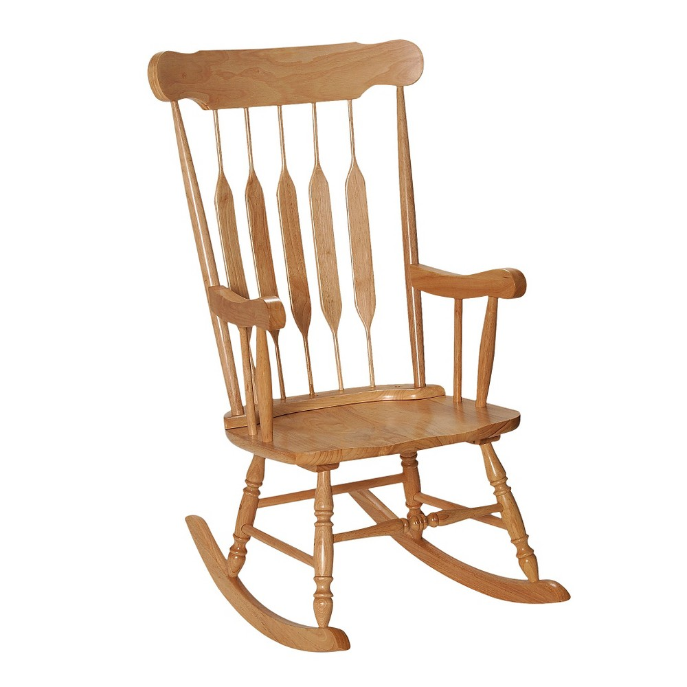 Image of Adult Wooden Rocking Chair - Natural, Adult Unisex