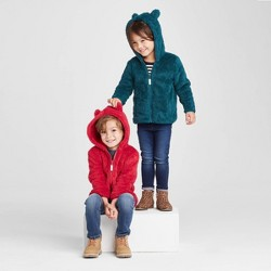 Toddler Sherpa Lined Zip-Up Hoodie - Cat & Jack™
