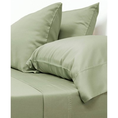 Queen 100% Rayon from Bamboo Classic Sheet Set Sage - Cariloha