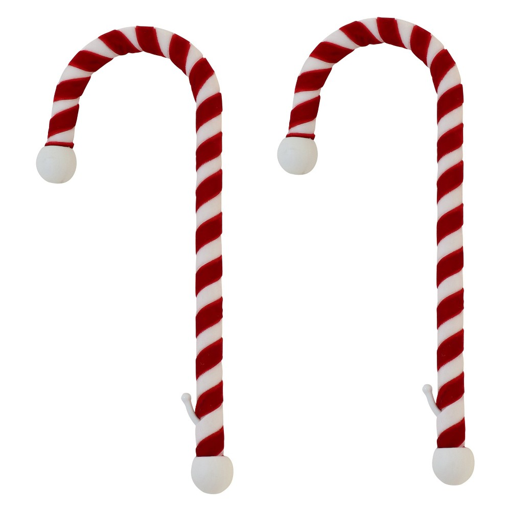 Image of 2pk Haute Decor Christmas Candy Cane Mantle Clip Stocking Holder