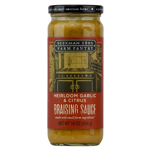 Beekman 1802 Farm Pantry Heirloom Garlic & Citrus Braising Sauce 16 oz - image 1 of 2
