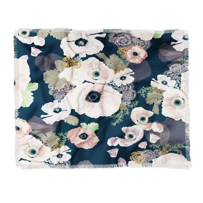 "60""X50"" Khristian Howell Une Femme Throw Blanket Blue - Deny Designs"