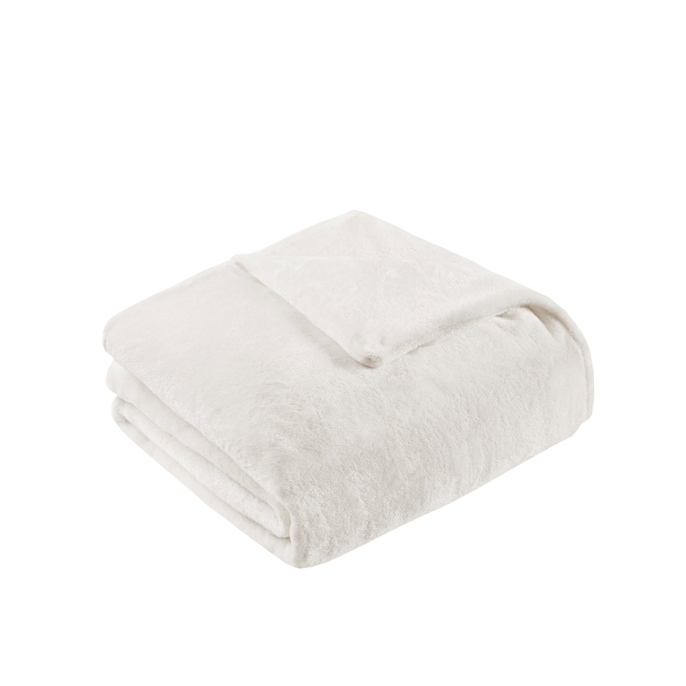 """Image of """"60"""""""" x 70"""""""" 18lbs Plush Weighted Blanket with Removable Cover Ivory"""""""