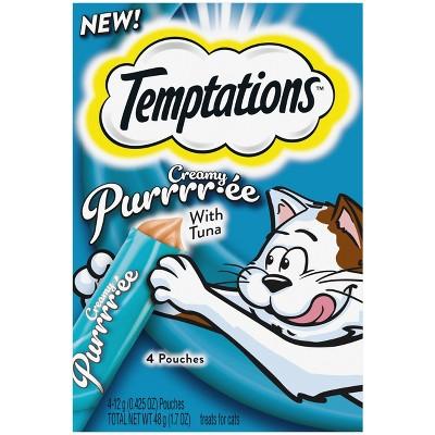 Temptations Creamy Puree Tuna Cat Treats - 1.7oz