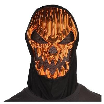 Metallic Scary Pumpkin Halloween Costume Mask