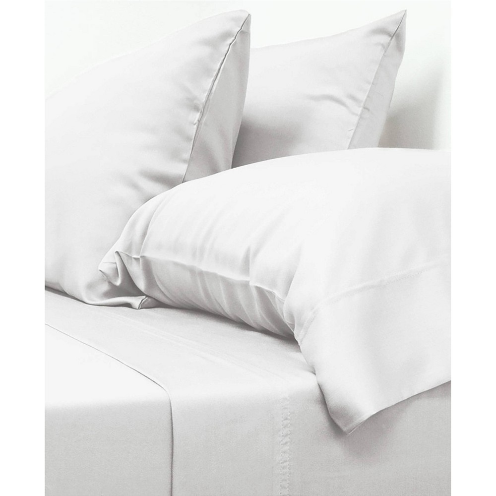 Image of California King 100% Viscose from Bamboo Classic Sheet Set White - Cariloha