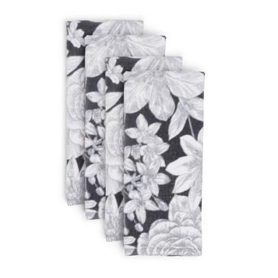 4pk Cotton Linear Floral Kitchen Towel Set - Town & Country Living