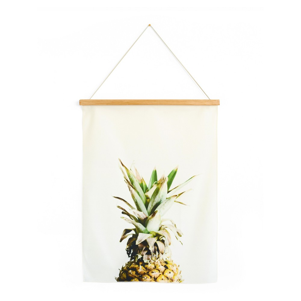 "Image of ""Wall Tapestry Pining for Pineapple 18""""x24"""" - Minted, Multi-Colored"""