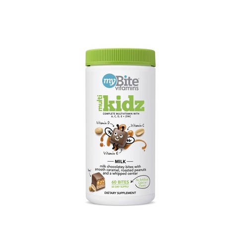 MyBite Kidz Multivitamin Chewables - Milk Chocolatey Peanut - 60ct - image 1 of 4