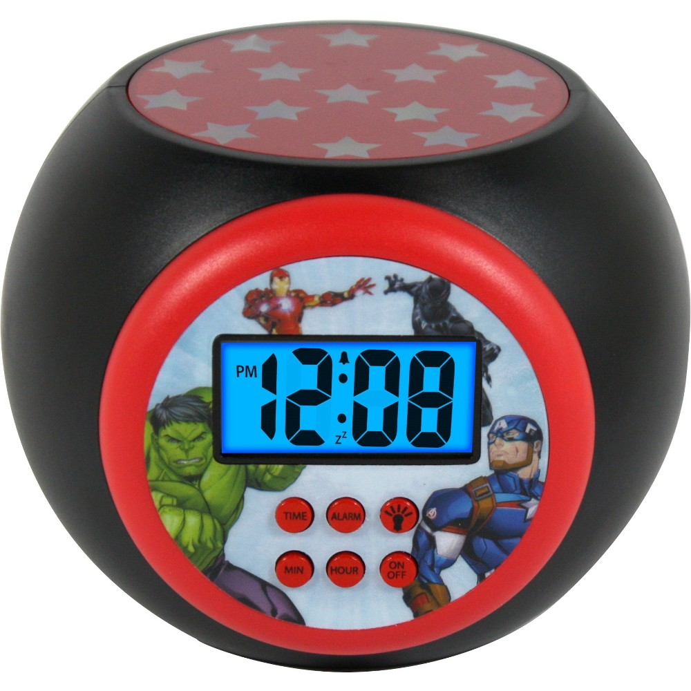 Marvel Avengers Lcd Projecting Alarm Clock, Black