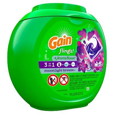 Gain flings! Laundry Detergent Pacs Moonlight Breeze - 42ct