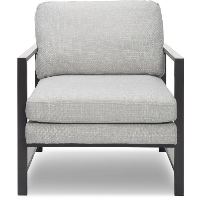 Russell Gray Metal Frame Accent Chair - Finch