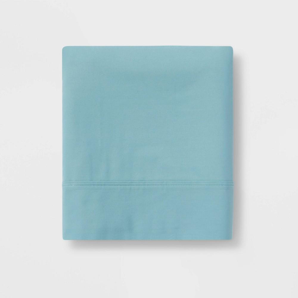 Ultra Soft Flat Sheet (Full) Ancient Aqua 300 Thread Count - Threshold Compare