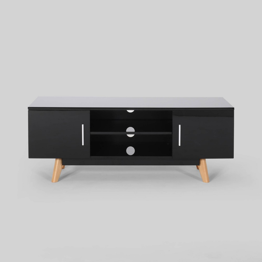 """Image of """"50"""""""" Ariade Mid Century TV Stand Black - Christopher Knight Home"""""""