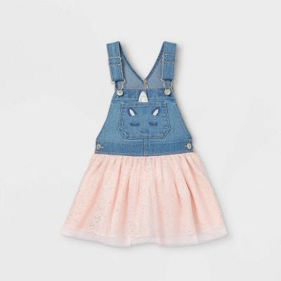 OshKosh B'gosh Toddler Girls' Unicorn Tulle Dress - Pink 12M