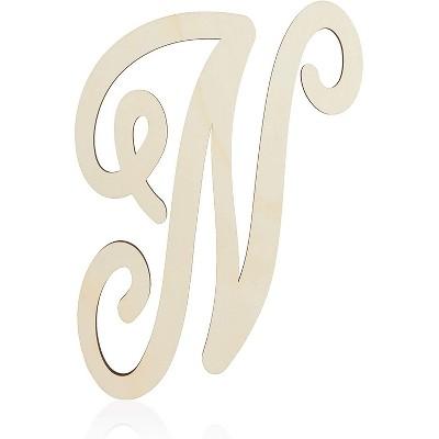 Unfinished Wood Monogram Letter N (13 in.)
