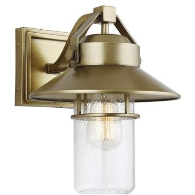 Generation Lighting Boynton 1 light Painted Distressed Brass Outdoor Fixture OL13901PDB