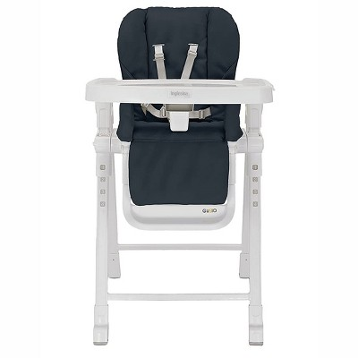 Inglesina Gusto Adjustable Baby Toddler Foldable High Chair with Removable Serving Tray Insert, 5 Point Safety Harness, and Reclining Seat, Graphite