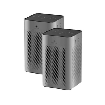 Medify Air MA-25-S2 Medical Grade Table Top Portable Air Cleaner Purifier w/ True HEPA Filter, 3 Speeds, and 500 Square Feet Coverage, Silver (2 Pack)