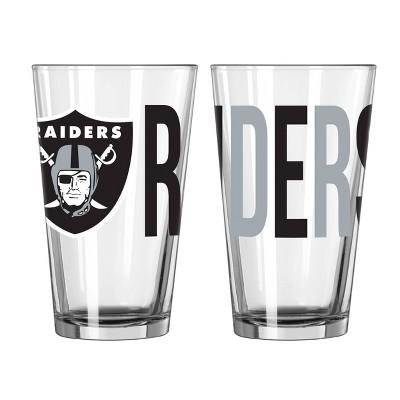 NFL Las Vegas Raiders Overtime Pint Glass - 16oz
