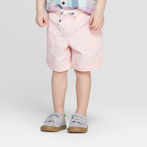 6494aac80212 Toddler Boys' Twill Pull-On Shorts - Cat & Jack™ Pink 3T : Target