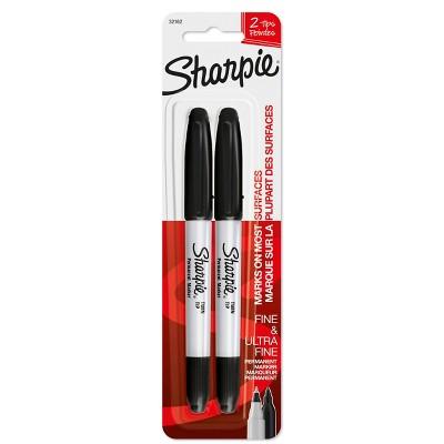 Sharpie 2pk Permanent Marker Twin Tip Black