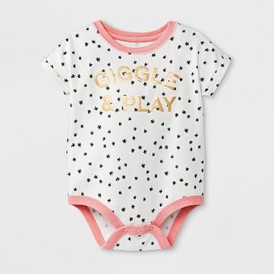 Baby Girls' Bodysuit - Cat & Jack™ White 6-9M