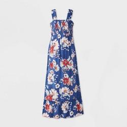 Maternity Floral Print Sleeveless Smocked Dress - Isabel Maternity by Ingrid & Isabel™ Navy